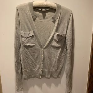 J. Crew Gray Sweater with Pockets.